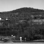 A view of Liberty Mountain in early 1977 before any college construction had taken place.