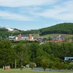 The same view of Liberty Mountain, as seen from Central Virginia Community College, on April 25, 2012.