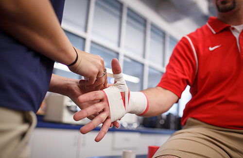 Liberty's athletic training program equips students for careers in the health and fitness industry.