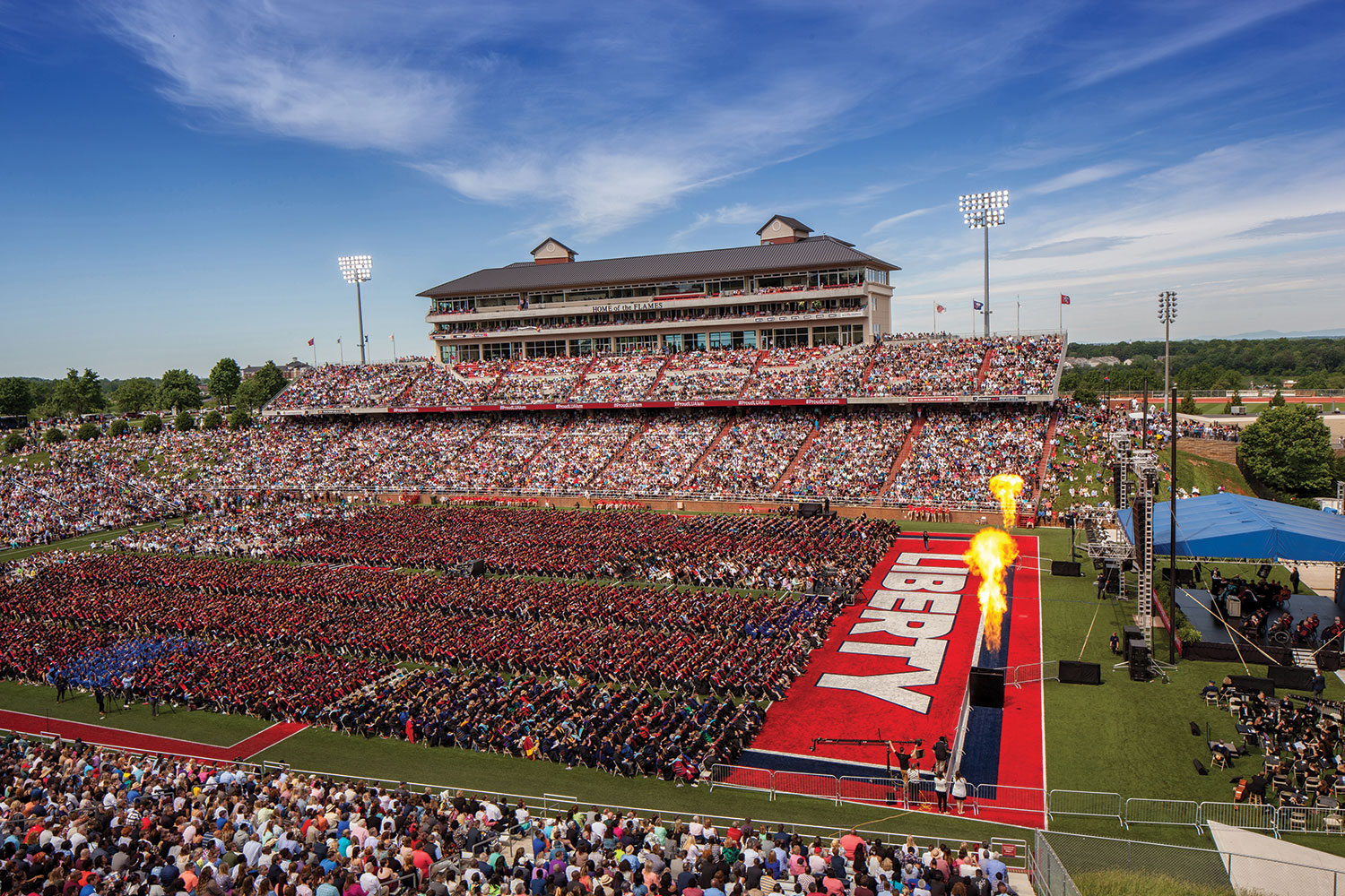 Liberty University celebrated its largest graduating class to date during its 43rd Commencement Ceremony inside Williams Stadium.