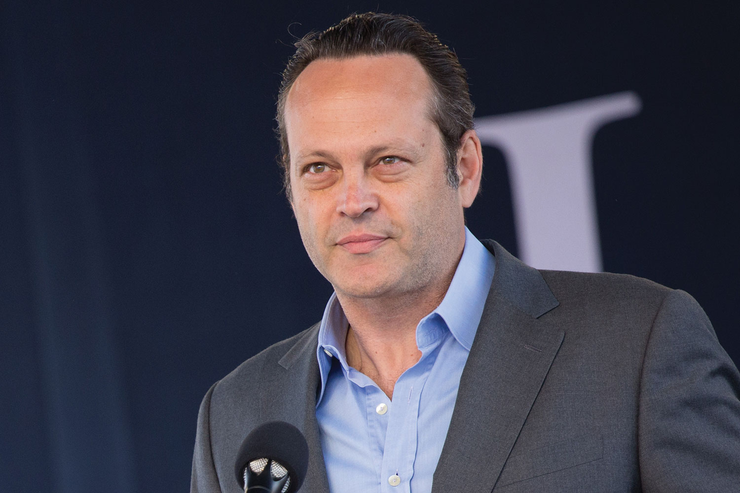 Hollywood actor Vince Vaughn surprised graduates at Liberty's 43rd Commencement.