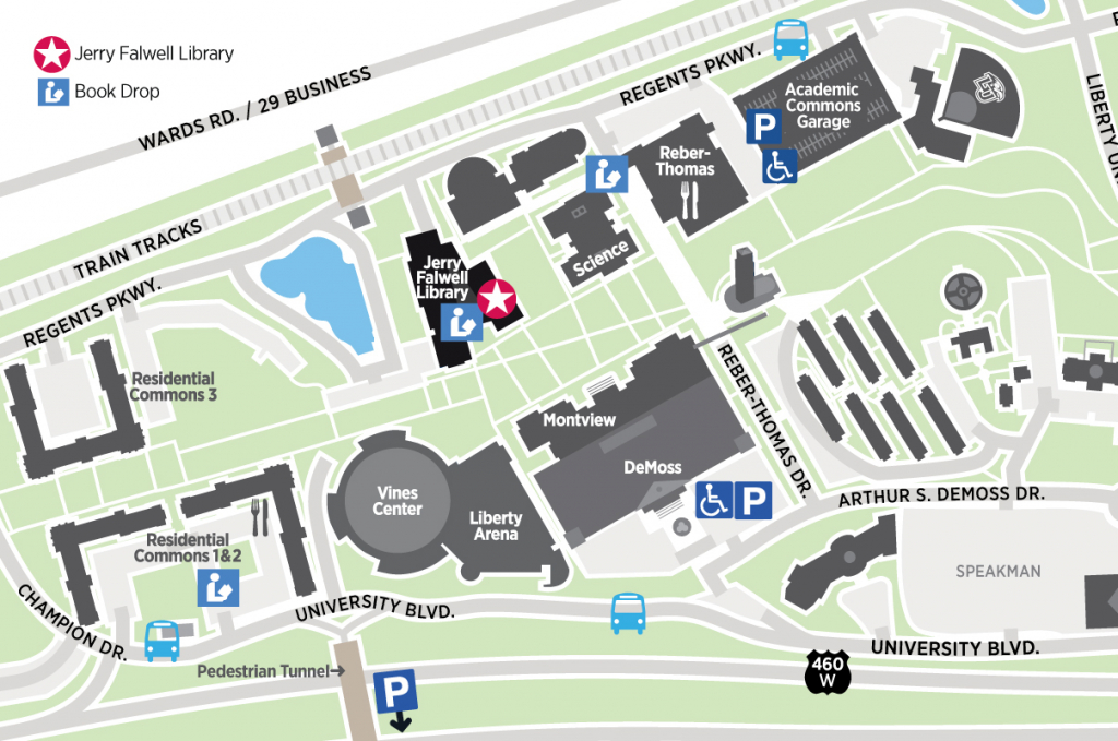 Map of part of campus