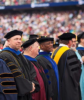 Faculty members at Commencement