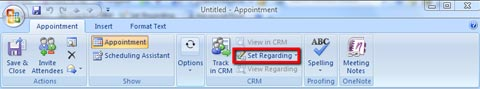 Appointment CRM Set Regarding