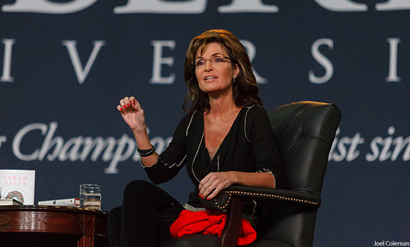 Sarah Palin speaks at Liberty Convocation.