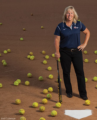 Liberty University softball coach Dot Richardson