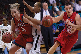 Flames men's and women's basketball competes.