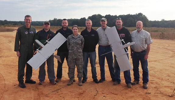 Liberty aeronautics students undergo UAS training.