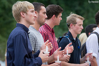 Liberty University held a candlelight memorial service to honor three students who passed away in the last three months.