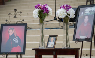 Liberty University held a candlelight memorial service on Thursday, Sept. 12, to honor three students.