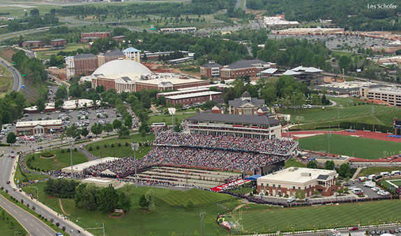 Liberty University's campus during its 2014 Commencement Ceremony.