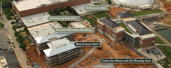 Plans for Liberty University's Academic Commons.