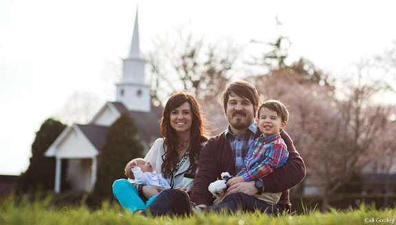 Meredith Andrews and her family