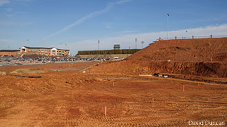 The site is prepped for Liberty's new Softball Complex.