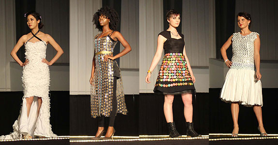 Liberty FACS students model their designs during the annual fashion show.