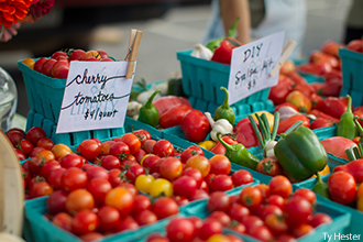 Fresh, natural produce for sale from Liberty University's Campus Garden