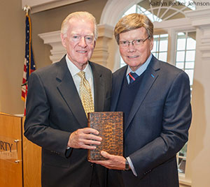 At the Liberty University Rawlings School of Divinity faculty meeting on Thursday, Dr. Harold Rawlings, a longtime supporter of the university, announced that he is donating his personal collection of rare books and Bibles valued at over $1 million to the school.