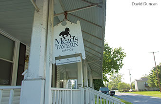 The Mead's Tavern sign.