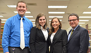 Liberty University's School of Law Mediation Team celebrates their win at the regional competition.