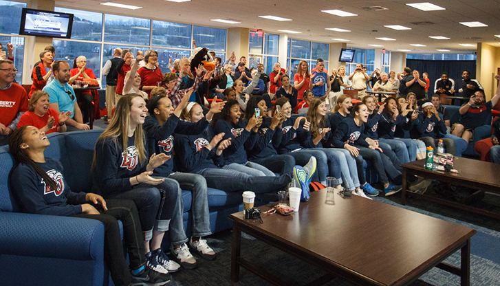Liberty University's women's basketball team learns its seed for the 2015 NCAA Women's Basketball Championship.