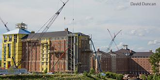 Liberty University's new high rise residence halls.