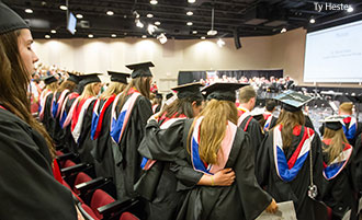 Liberty University's School of Music holds its degree presentation ceremony.