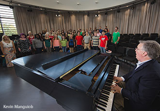 A music class at Liberty University.