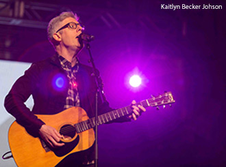 Grammy-nominated recording artist Matt Maher led students in singing a few of his well-known songs