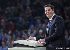 In Friday's Convocation, Israel's Ambassador to the United States Ron Dermer spoke to Liberty University students about the challenges the Jewish nation has faced throughout history and thanked the university for being