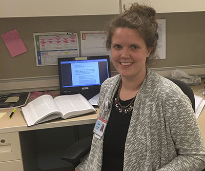 Leslie Stalnaker, a senior studying global health, is completing a pre-doctoral fellowship in pediatric health with the Office of Health Equity & Inclusion at Alfred I. duPont Hospital for Children in Wilmington, Del.