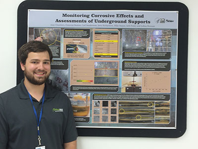 Rising senior, Joshua Brennan, is interning at the Center for Disease Control Prevention (CDC) in Washington state as part of a research team investigating the accelerated corrosion of steel surfaces in underground mines.