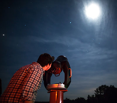 During the summer months, the Lynchburg community has the opportunity to see Mars, Jupiter, Saturn, and other views from the sky at the Liberty University Astronomical Observatory.