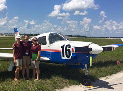 Two teams of female aviators representing Liberty University School of Aeronautics (SOA) participated in the 40th annual Air Race Classic (ARC) last week, with one team finishing in the Top 10.