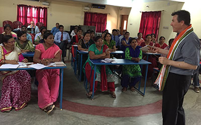 Dr. Samuel Smith leads a teaching workshop in India.