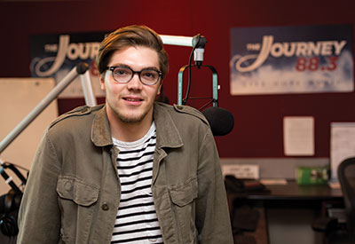 Recent graduate Caleb Lineman gained practical job experience at The Journey radio station.