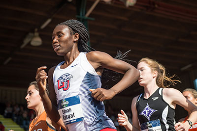 Liberty sophomore Ednah Kurgat races in the women's NCAA DI 5K national championship.