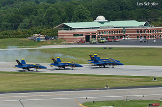 The U.S. Navy Blue Angels perform at the 2011 Lynchburg Regional Airshow.