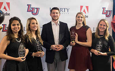 Liberty University students are awarded for creativity by Adobe.