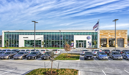 Hendrick Volkswagen Frisco in Frisco, Texas, one of 102 dealerships in the U.S. owned by Hendrick Automotive Group.