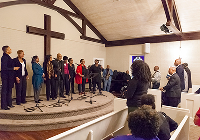 A gospel worship service was held in Liberty's prayer chapel as part of the Center for Multicultural Enrichment's African-American History Month event schedule.