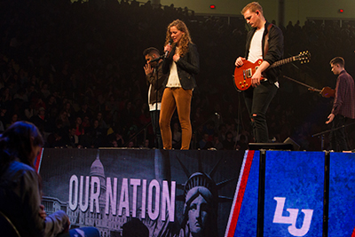 Liberty University held a special Inauguration Day prayer service for Convocation on Friday.