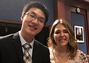 Xia Chongyu with fellow Liberty student Jannah Schloeder