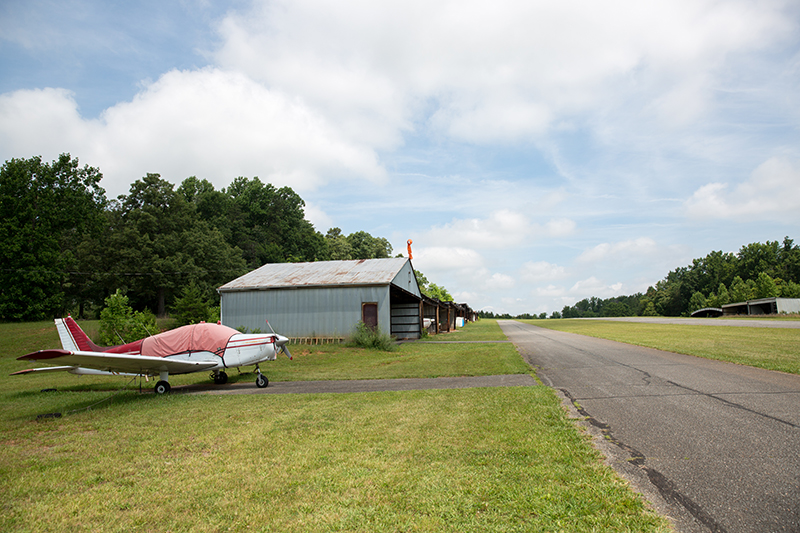 (Click image to enlarge) With little traffic, open space, and lots of history, the New London Airport is a perfect training ground for young pilots. (Photo by Kevin Manguiob)