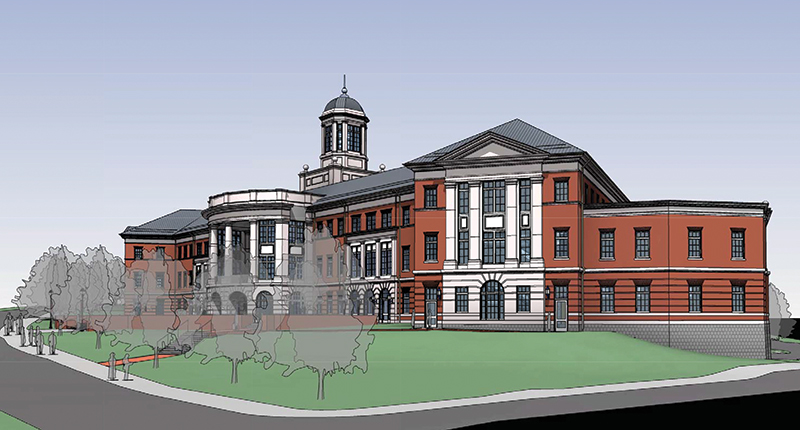 An artist rendering of the forthcoming School of Business building.