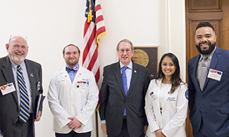 LUCOM student-doctors visit Representative Bob Goodlatte (VA) in Washington, DC.