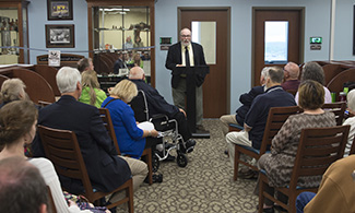 LUCOM Medical Library hosts dedication ceremony for medical artifact display