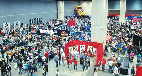 BrickUniverse drew a large crowd on April 2, 2016, at the Raleigh Convention Center.