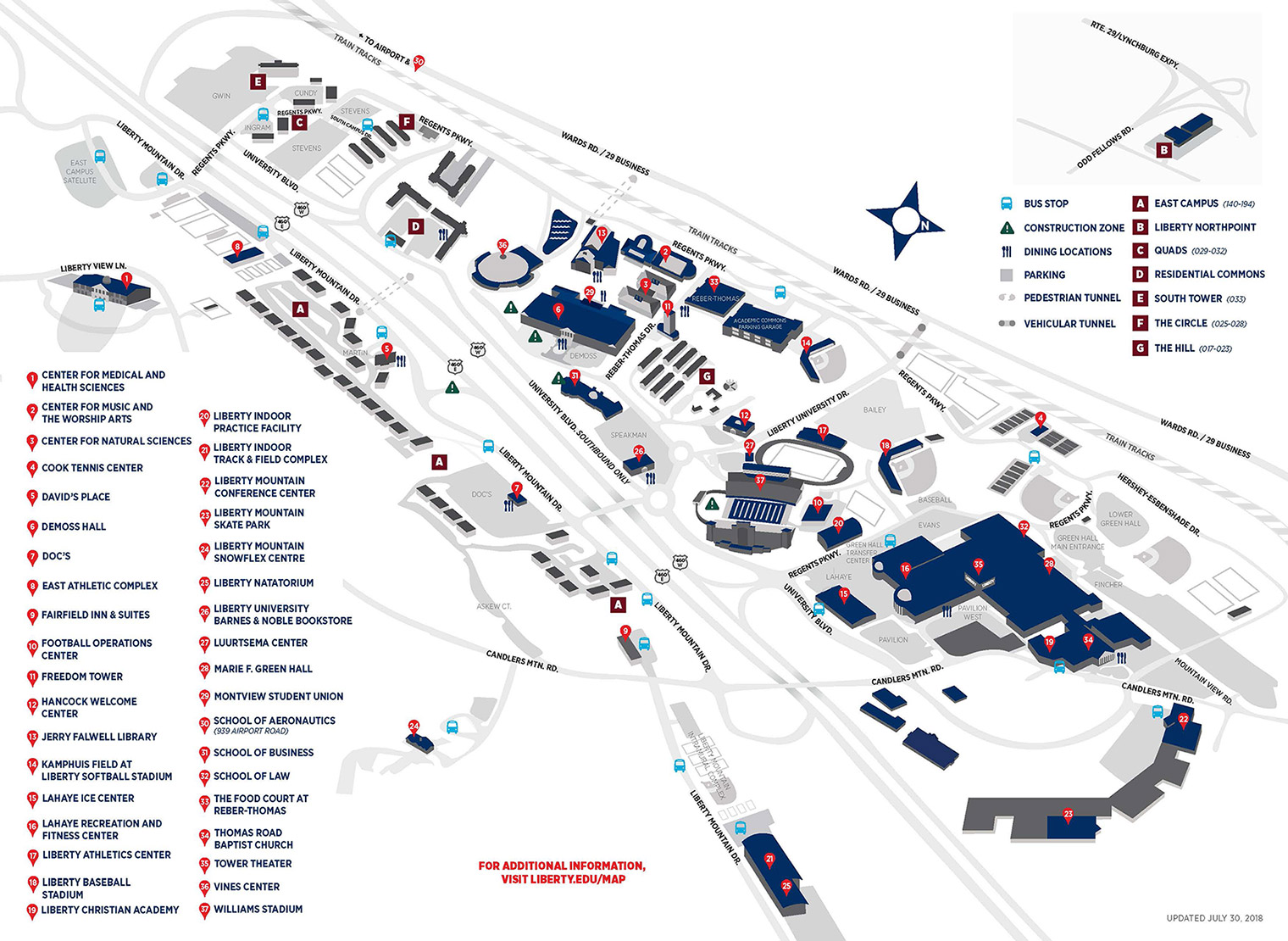 Liberty University Campus Map Liberty University Campus Map | Earth Map
