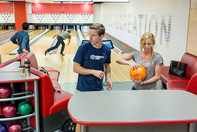 The Montview Student Union features an eight-lane bowling alley in the basement. (Photo by Leah Seavers)