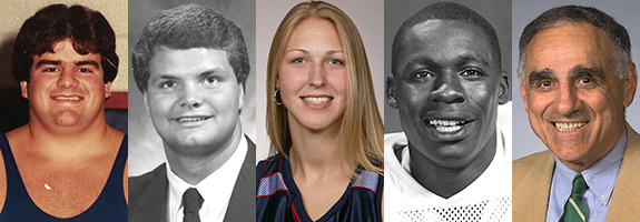 Members of the 2015 Liberty Athletics Hall of Fame class.